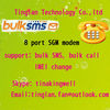Stable Convenient and quick bulk sms sender and receiver 8 port modem pool