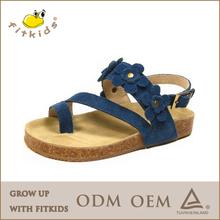 fancy girls sandals suede insole sandals girls flower sandals
