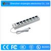 2014 Cheap USB 2.0 Hub Fine Hub 7 Port with LED Indicator Light Made in China