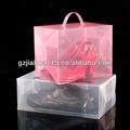 atacado pp transparente caixa de plástico para embalagem de calçados