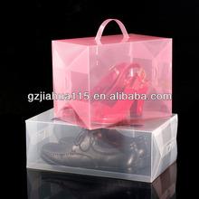 wholesale transparent PP plastic box for shoe packing