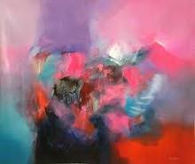 Original Painting Abstract Art Peru