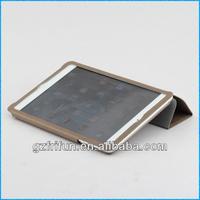 taupe brown semi-enclosed smart leather portfolio case for ipad mini