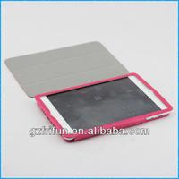 rose red semi-enclosed smart leather for ipad mini case