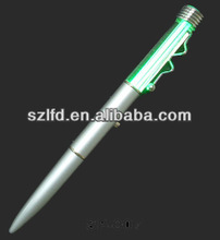 Slim squiggle clip pen for promotional gifts ,school and office supplying & led uni ball pen