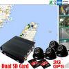 Fleet management 4ch dual SD card wireless gps cctv security camera 3G wireless network G-shock for fleet control