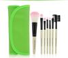 Protable 7PCS Green Mini Travel Makeup Brush Set