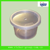 disposiable round plastic food grade container with lid