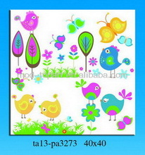 Kids department canvas painting, cartoon picture for kids room decor