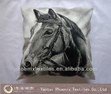 3D image printed digital printing horse zebra cushion cover, custom made cushion cover