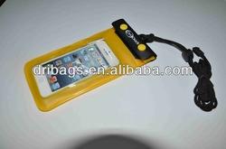Yellow PVC Waterproof bag for iPhone 4 Armband With Earphone Waterproof Diving Bag