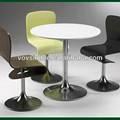 Popular 2014 baixa manutenção superfície sólida mesa/superfície sólida mesa de jantar/restaurante mesa de jantar