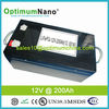 High energy 12V 200Ah lithium iron battery pack for solar storage system