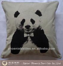 3D image printed digital printing panda cushion cover, custom made cushion cover