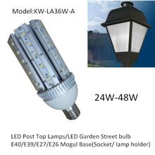 led garden light /lamp /bulb 360degree emitting dc or ac input 24w-48w
