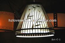 Pendant Bamboo Lamp