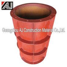Round plastic column formwork for construction