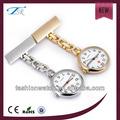precio de occidental 2014 reloj nuevo diseño de moda reloj de enfermera con caja de la aleación e imprimir su propio logotipo