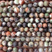 Natural multi colors jade round beads (AB1485)