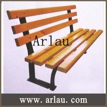 Arlau FW295 wood plastic composite park bench outdoor wood bench