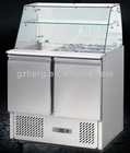 China commercial refrigerator food counter glass top salad bar