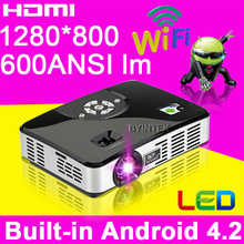 Home theater cinema LED DLP Full HD 1080P 1280x800 Pico Micro Video Portable mini android wifi portable projector