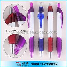 Special clip/grip design plastic ball pen for promotion