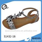 women dress sandal women silver slippers sandals S1432-16