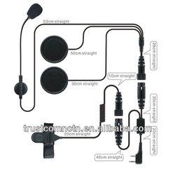 Dual speakers Motorcycle noise canceling helmet headset/earphone for two way radio TC-502-2