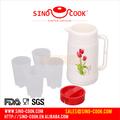 5 unids conjunto plástico de la categoría alimenticia térmica jarra de agua