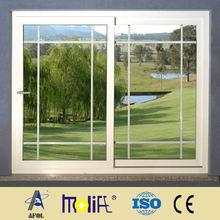 2014 AFOL-pvc horizontal window with grills pvc profiles pvc sliding tinted glass window