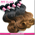 Ombre extensiones de cabello humano, remy clip en extensiones del pelo humano