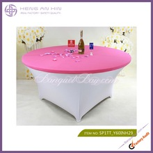 High quality fancy wedding table top cover lycra bright red spandex table top covers wholesale
