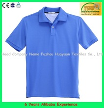 Blue polo shirt with oem logo- 6 Years Alibaba Experience