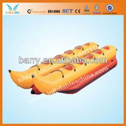 Inflatable double banana boats
