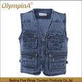 china olympina manufactuer de bajo costo de la ropa de los hombres de jean de mezclilla chaleco