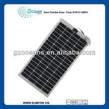 panel solar semi flexible solar panel semi flexible guangzhou manufacturer bendable solar panel 75W 18V
