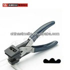 butterfly shape hole puncher red/blue handle A-107