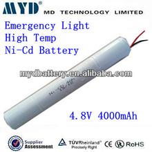4000mah nicd high temp emergency lighting battery packs 4.8v nimh