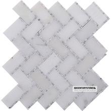 Dan white marble mixed China venato herringbone tile mosaic