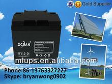 Ocean 12V 38Ah Lead Acid Battery Solar Cell