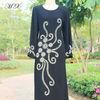Malaysia Jubah Lycra Maxi Dress Baju kurung with Embroidery