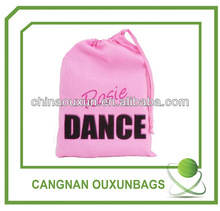 factory direct manufacture luxury high quality dancing shoe bag with drawstring
