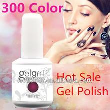 [I.C.E] 300 Color Hot Sale Gel Polish,diamond raw material15ml soak off LED&UV nail gel polish