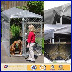 galvanized big dog kennels / chain link dog house / metal dog kennels