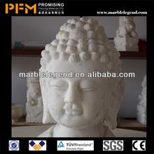 PFM Natural stone hand carved antique decorative buddha head statue