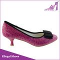 Nuevo 2014 rosa elegante zapato de mujer, alto talón zapatos de vestir, china por mayor de calzado de verano