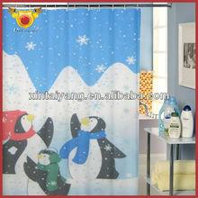 Penguin Design Bathroom Latest Fashion Curtain