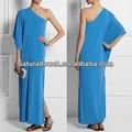 La mujer china arábica ropa maxi vestido de una sola- hombro abierto de hendidura vestido de gasa( ntf04096)