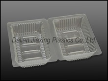 Plastic High temperature sterlizing food tray in white and clear colour